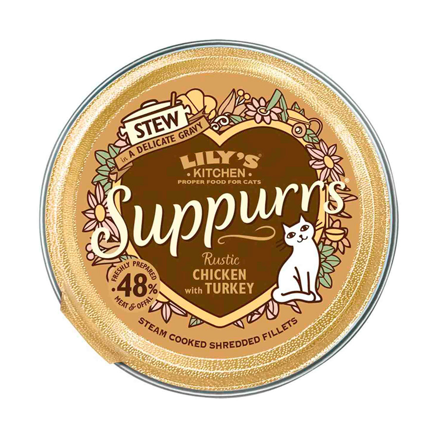 Pack 9 Tarrinas Lily's Kitchen Suppurrs para gato 85 gr, , large image number null