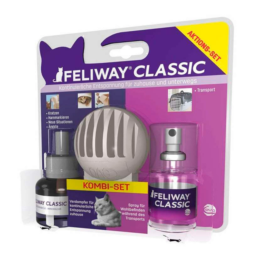 Kit de iniciación Feliway: Difusor + Recambio + Spray Travel, , large image number null