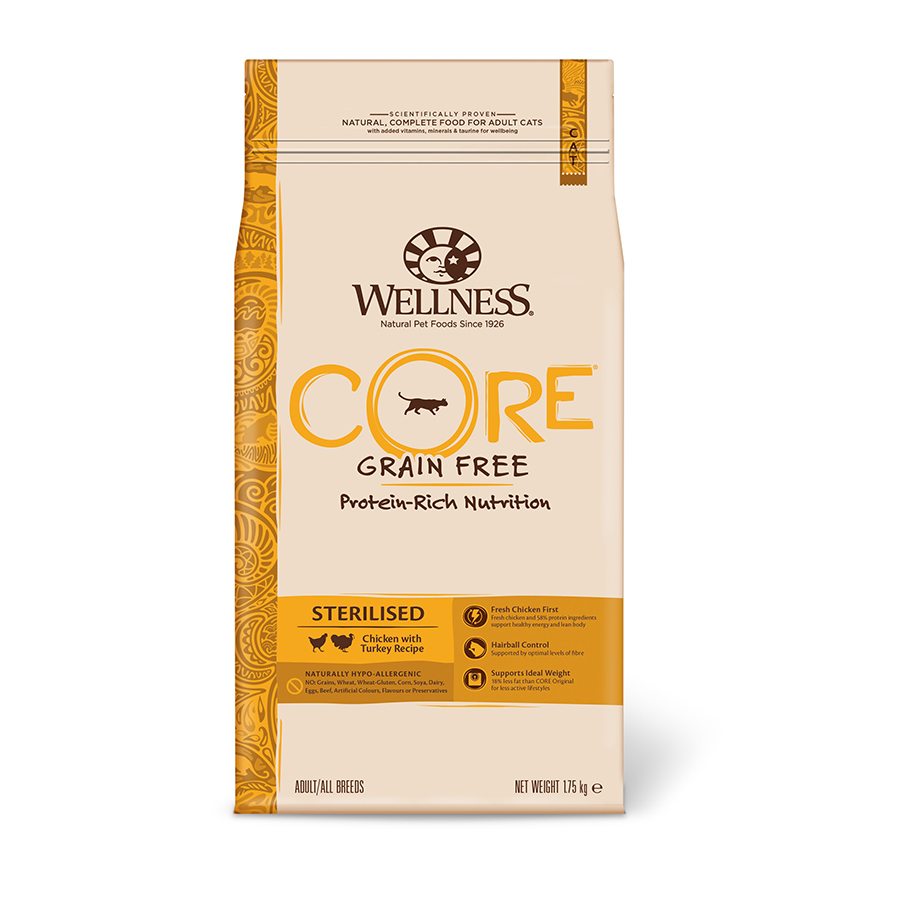 Wellness Core Feline Sterilised pollo y pavo, , large image number null