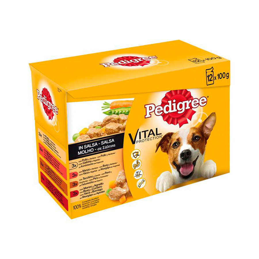 Pedigree Sobre Salsa Mixto 12 Pack x 100 gr, , large image number null