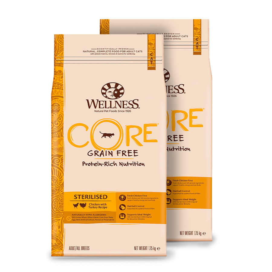 Wellness Core Feline Sterilised pollo y pavo - 2x1,75 kg Pack Ahorro image number null