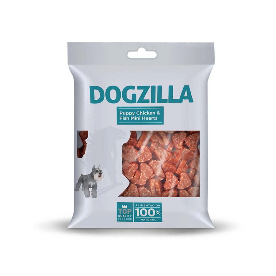 Snacks Dogzilla Puppy Mini Hearts 100 gr, , large image number null