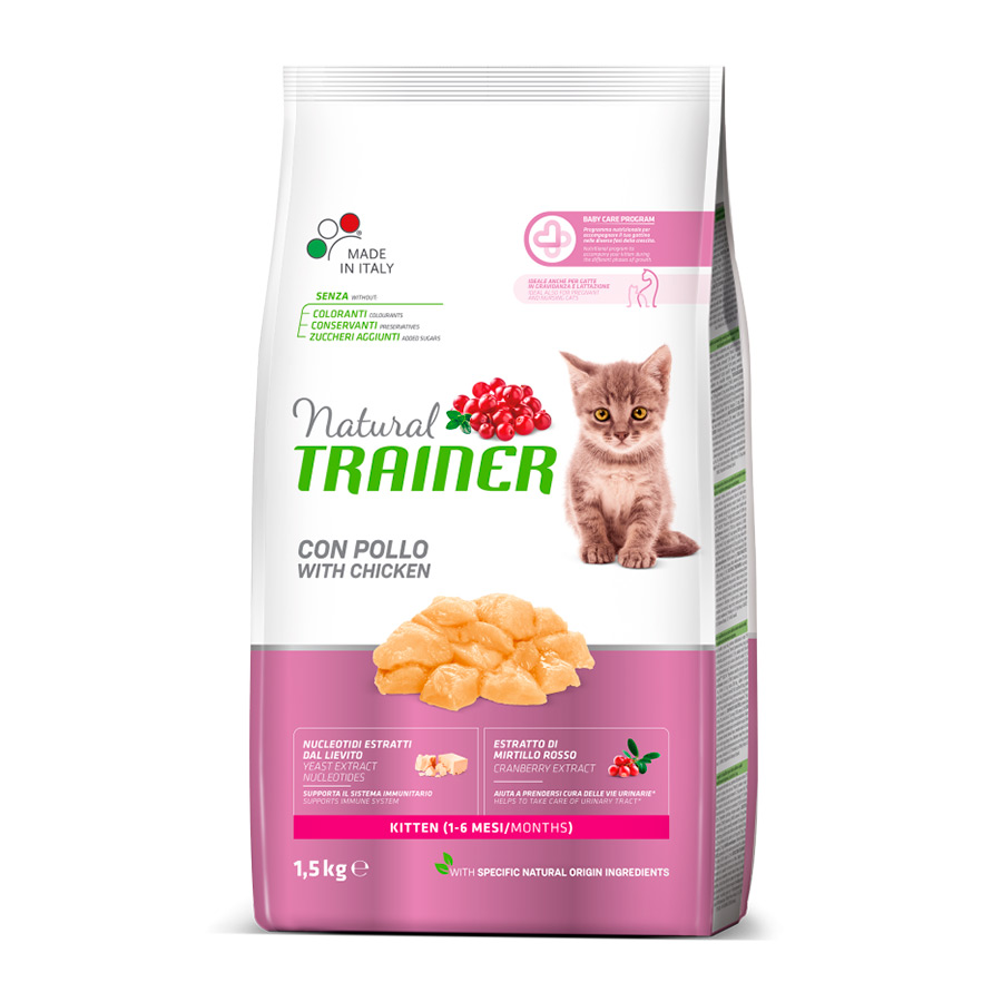 Pienso para gatitos Natural Trainer Kitten 1.5 kg, , large image number null