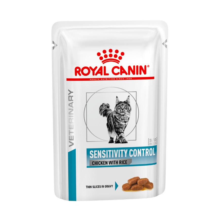 Pack 12 Pouches Royal Canin Veterinary Diet Feline Sensitivity Control pollo y arroz 85 gr, , large image number null