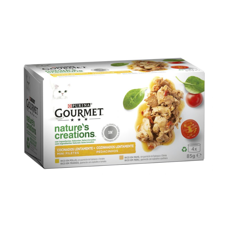 Gourmet Purina Gato Mini Filetes 4 x 85 gr image number null