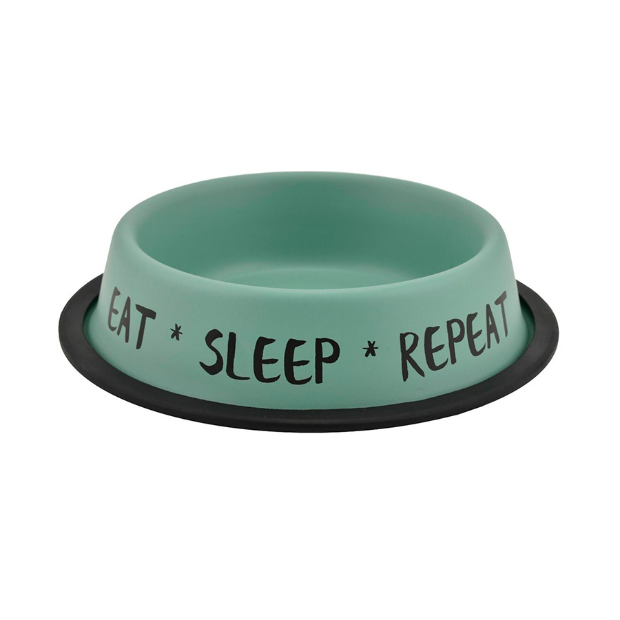 Comedero Nordic Bowl Eat Sleep Repeat de Outech, , large image number null