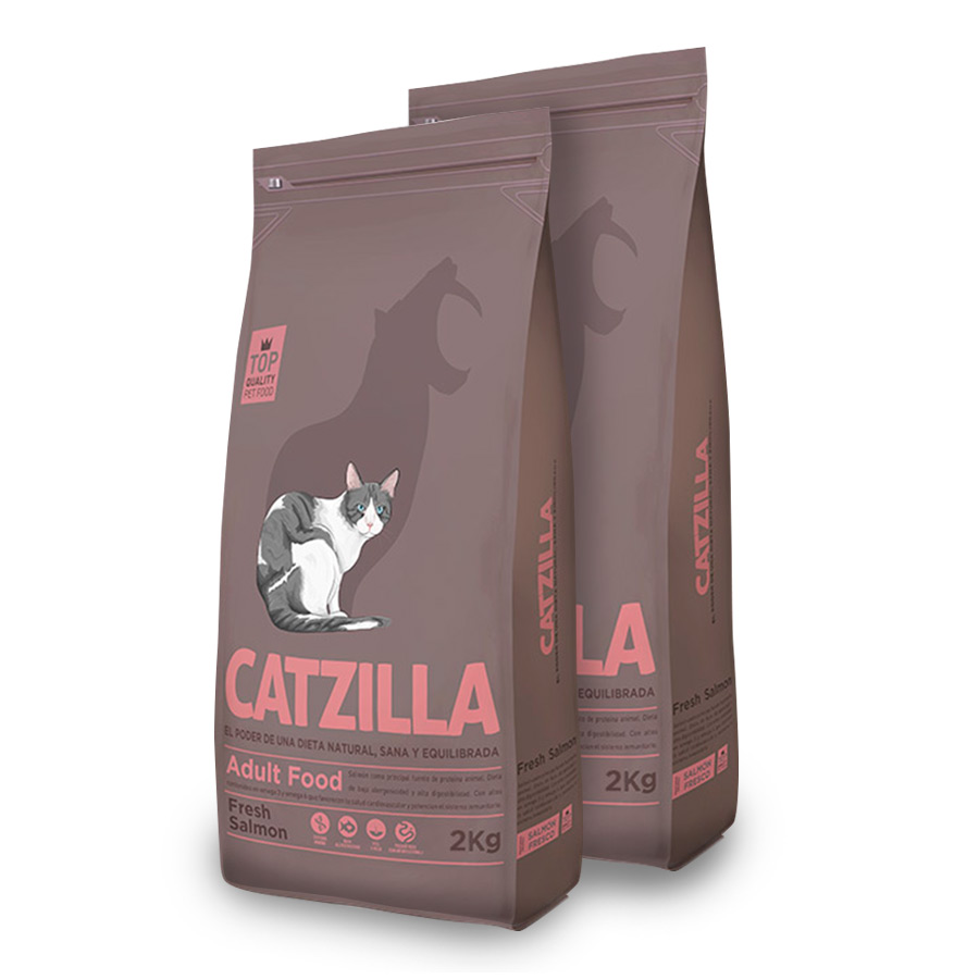 Catzilla Feline Adult salmón - 2x2 kg Pack Ahorro, , large image number null