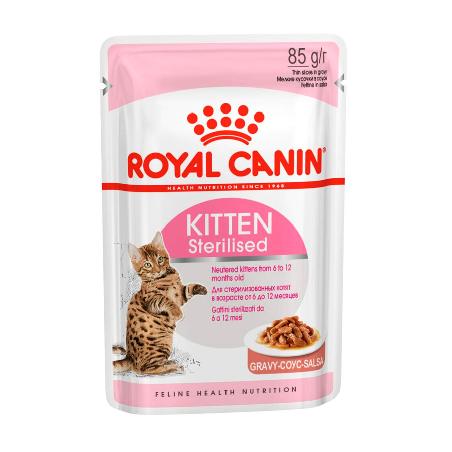 Alimento húmedo Royal Canin Feline Kitten Sterilised 85 gr, , large image number null