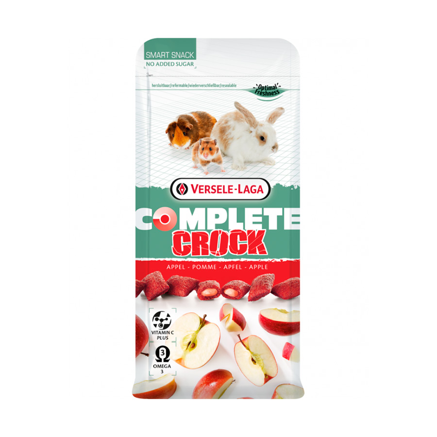 Snacks de manzana Complete Crock Versele-Laga para Roedores, , large image number null