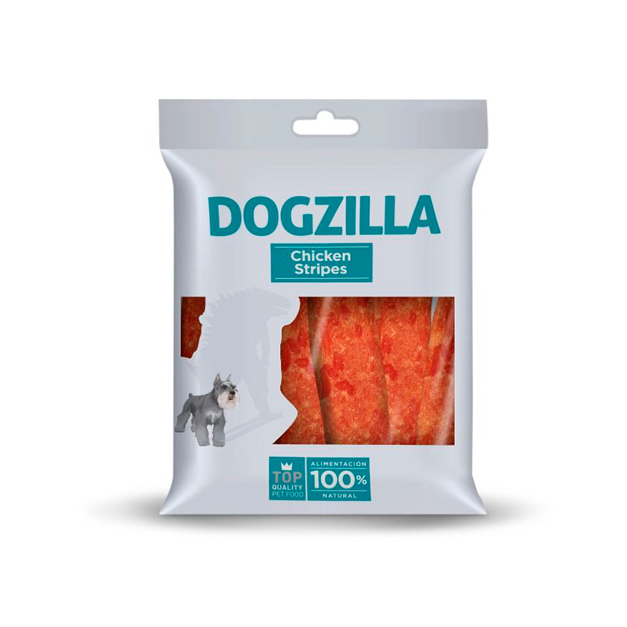 Snack Dogzilla Chicken Strips Snack 100 gr, , large image number null