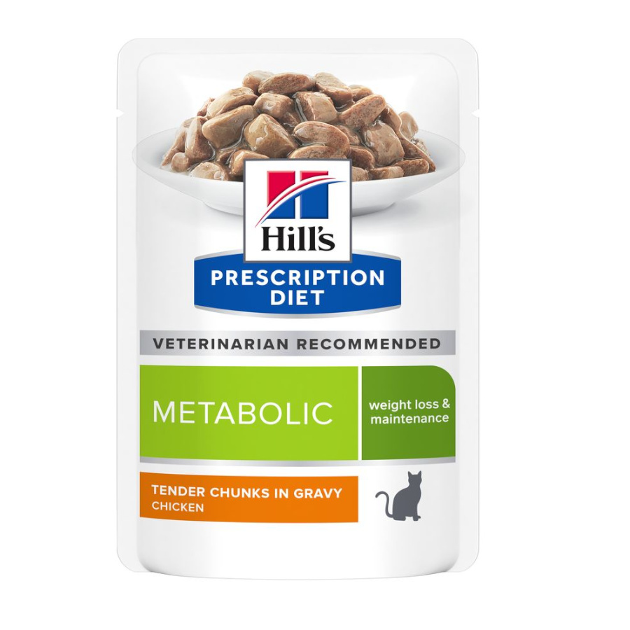 Pack 12 Pouches Hill's Prescription Diet Metabolic Feline 85 gr, , large image number null