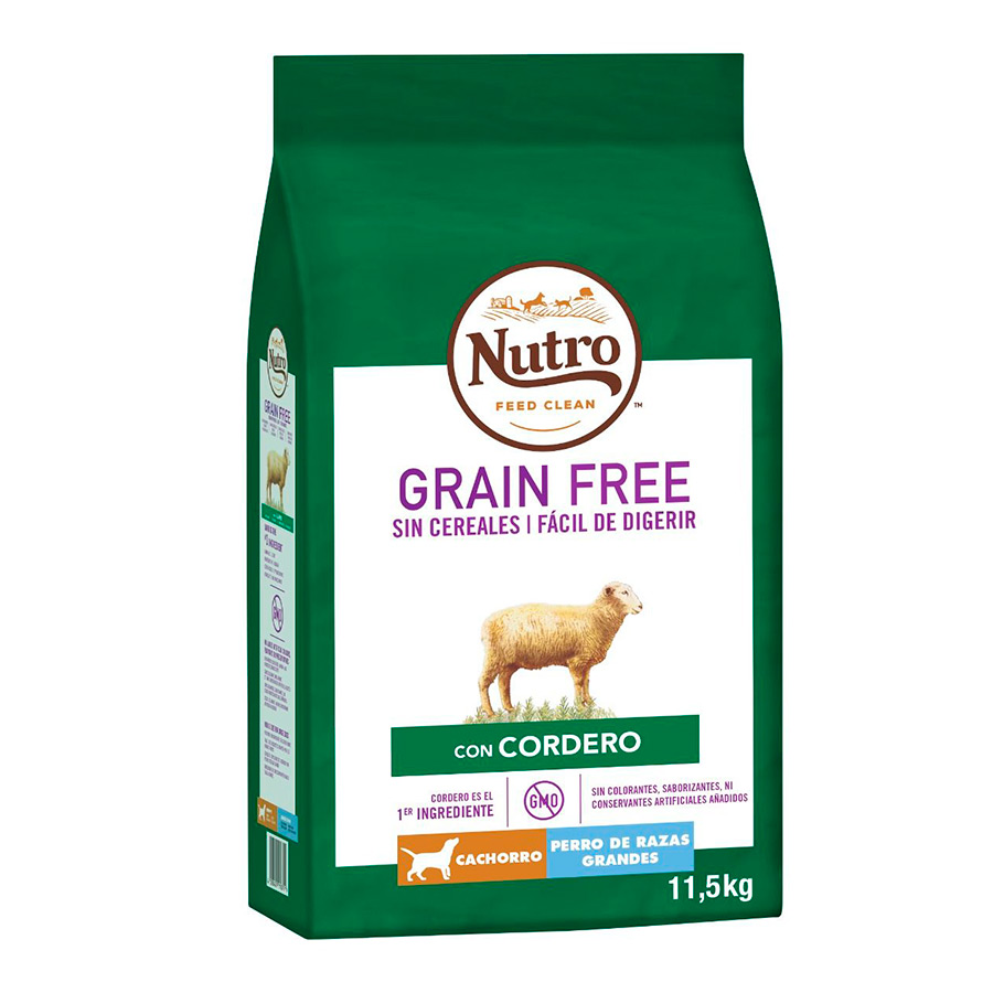 Nutro Grain Free Puppy Razas Grandes Cordero 11,5 kg, , large image number null