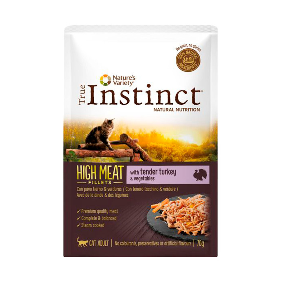 Pack 8 Sobres True Instinct High Meat Feline Pouch 70 gr, , large image number null