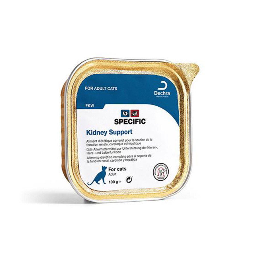 Pack 7 Tarrinas Specific Feline FKW Kidney Support 100 gr, , large image number null