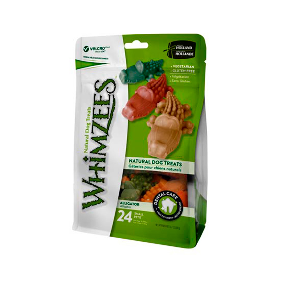 Whimzees Snack natural en bolsa forma Cocodrilo para perros, , large image number null