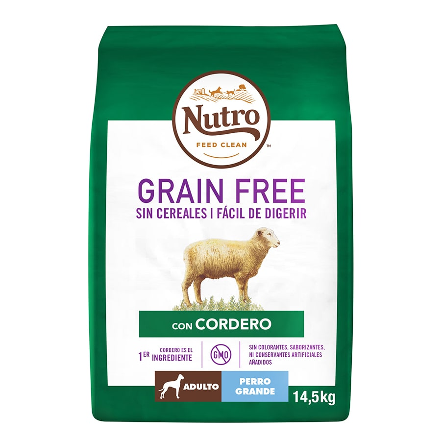 Nutro Grain Free Adult Large Breed Cordero image number null