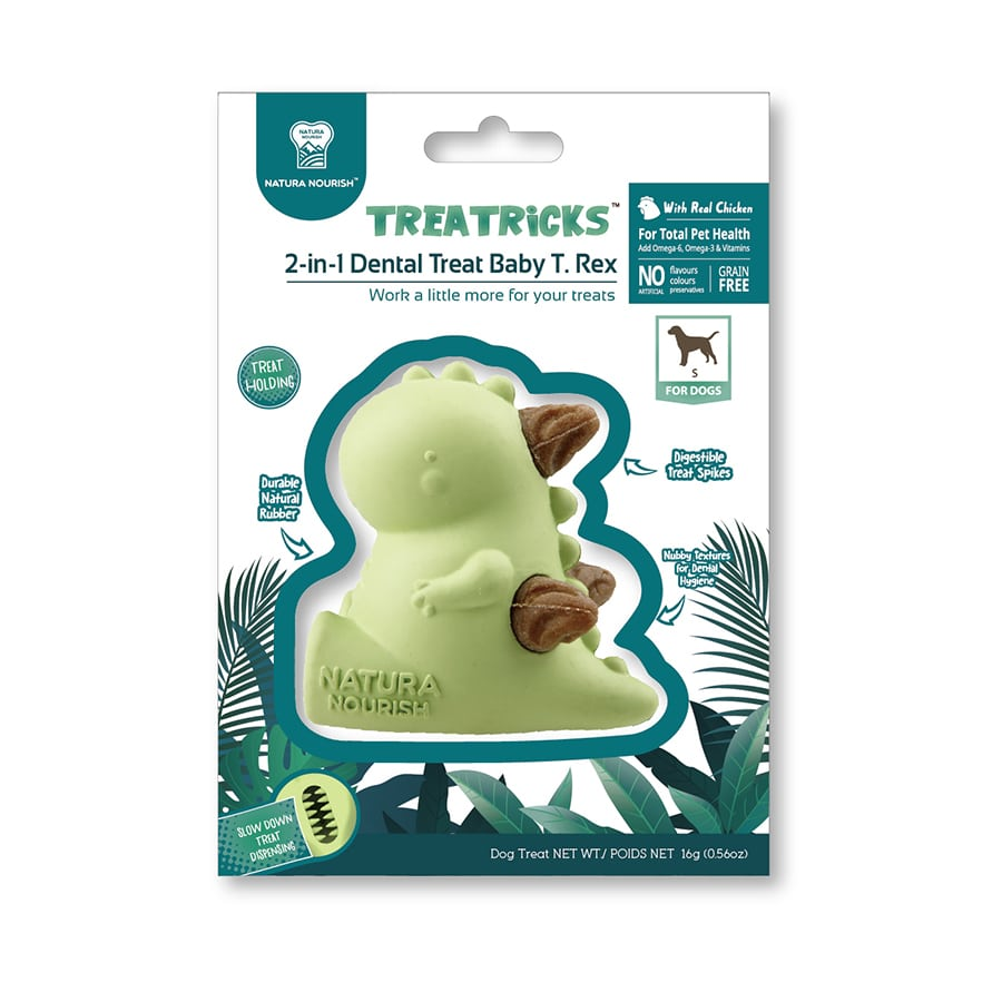 TreatTricks Puppy Dental T-Rex, , large image number null