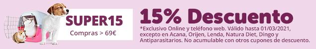 ¡No te lo pierdas! 15% de descuento en tus compras online