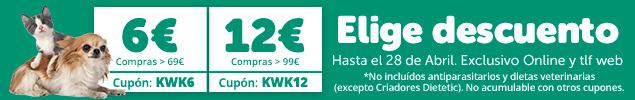 Elige tu descuento: 6€ o 12€